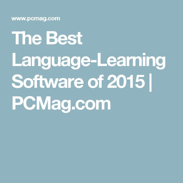 The Best Language-Learning Software of 2015 | PCMag.com