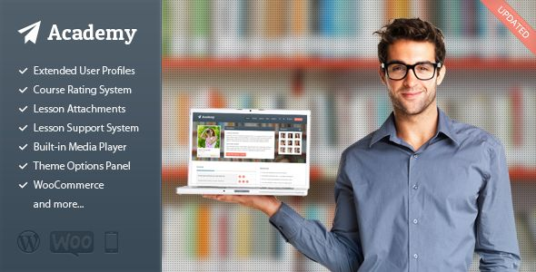Academy - Responsive WordPress Theme for Online Teaching and Learning Managment