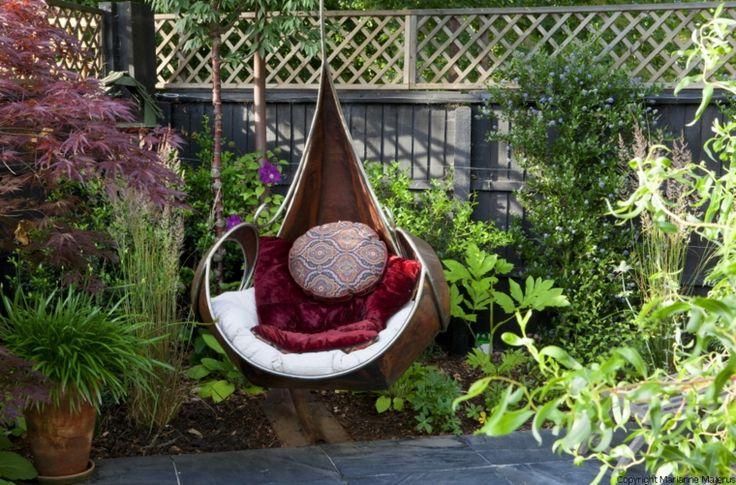 Columpio colgante de una plaza para jardin ideas para el - Columpios para jardin ...