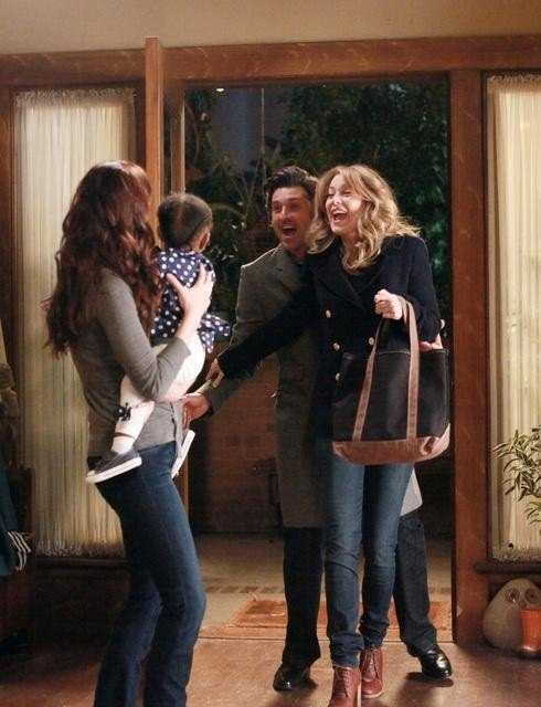 Teehee Grey's Anatomy.     Still of Patrick Dempsey, Chyler Leigh and Ellen Pompeo in Grey's Anatomy