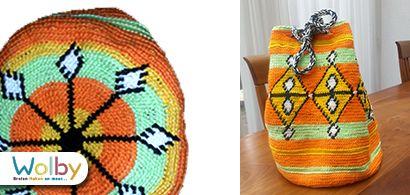 Tapestry tas gehaakt door Jolanda de Winter, met Scheepjes Larra.