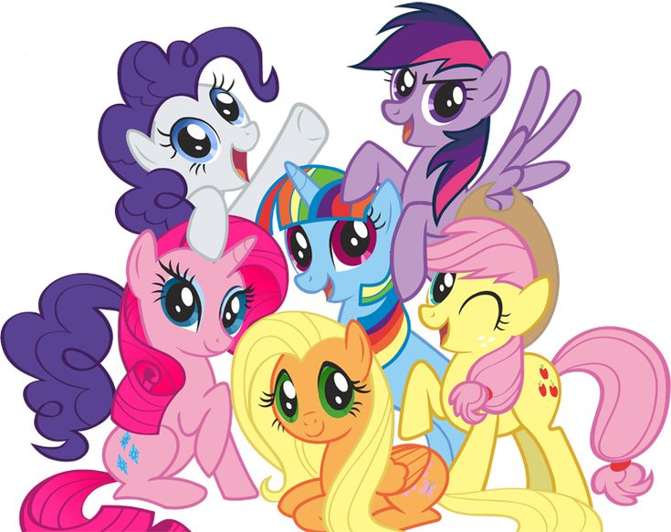Color Ponies My Little Pony Friendship Pony Board Mlp Rainbow