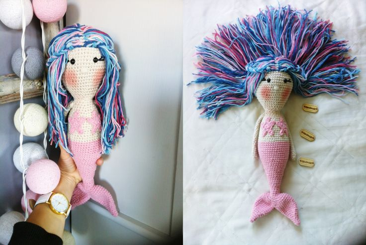 Mermaid,syrenka, crochet , doll