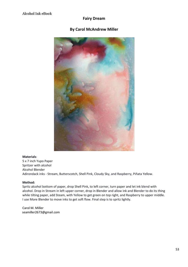 Free Alcohol Ink eBook: How It s Done by Nancy Murphree Davis - issuu