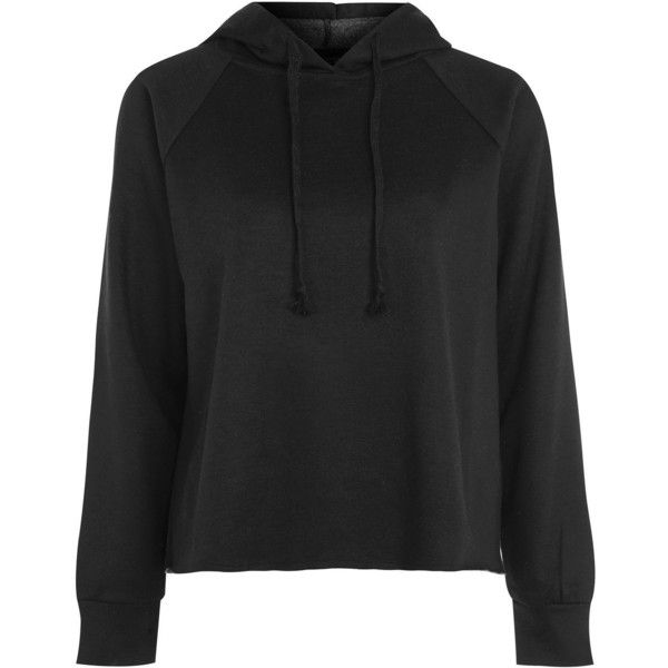 TopShop Petite Raglan Hoodie (676.150 IDR) ❤ liked on Polyvore featuring tops, hoodies, black, petite hoodie, hoodie top, raglan sleeve top, sweatshirt hoodies and hooded sweatshirt