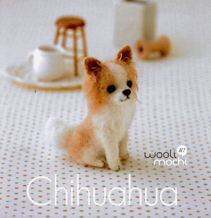 This kit contains all the materials for you to make your own needle felted Miniature Chihuahua.  Needle felting is an easy and fun craft of sculpting and felting wool using a small barbed needle.  Whats in the kit? - Abundant wool roving for the item(s) - 1 pair of acrylic eyes - Step-by-step instructions in Japanese (there are illustrations you can follow) Level of Difficulty: ★★★★☆ (Intermediate)  Size(s) of Finished Piece Chihuahua - length, approx. 4 inches  Expect Time to Complete…