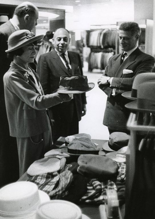 1957 - Coco Chanel & Mr. Stanley Marcus in Neiman Marcus Dallas