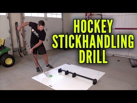 Hockey Stickhandling Drill [At Home] - YouTube