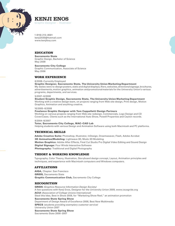 21 best Out of the Box Resumes \ Misc Interview Tips images on - graphic designers resume samples
