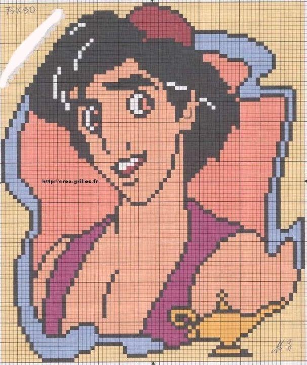 Aladdin Disney hama perler bead pattern