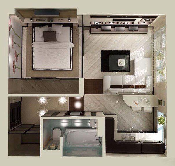 Дизайн интерьера для маленькой квартиры | ВКонтакте