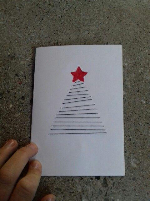 Carte de Noël cousue tout simplement