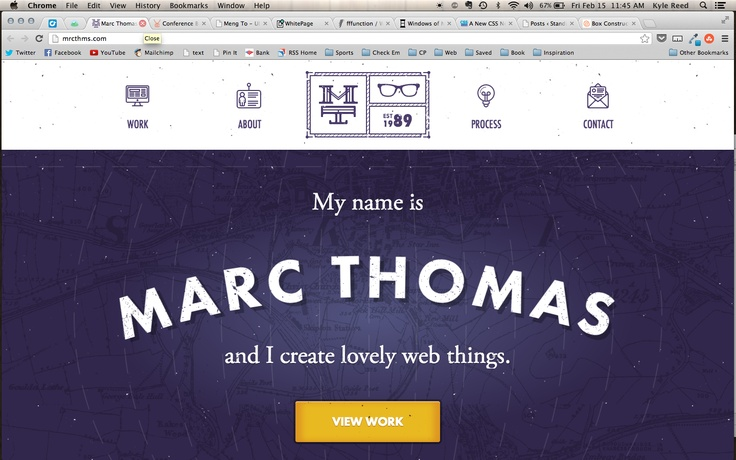 Great example of a personal landing page