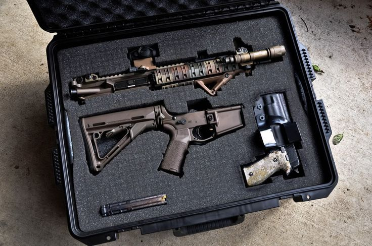 AR 15 Pelican case I like this set up. It never crossed my mind to split tbe receievers and pack it like that. So much eaiser to carry a case that size.