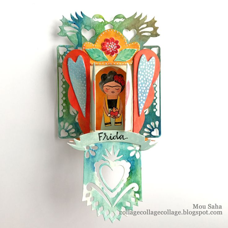 Heart Shrine created by Mou Saha using Sizzix dies by Crafty Chica