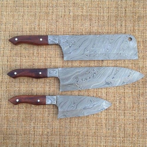 Custom Hand Made Chef Knives Set