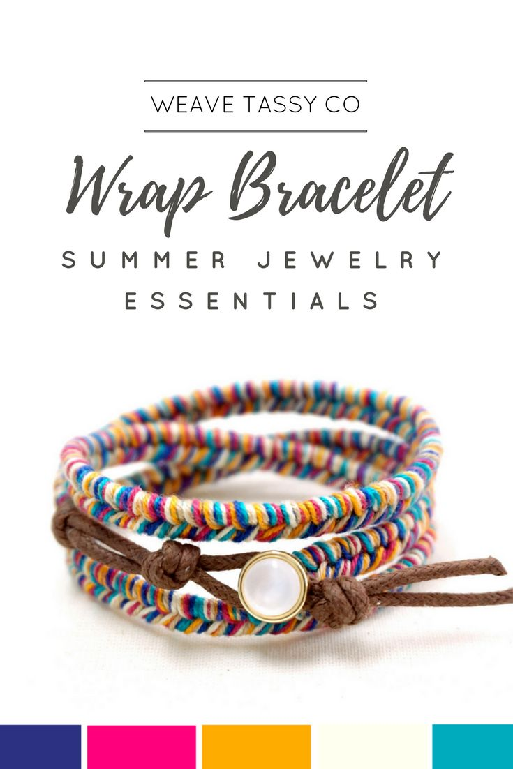 Colorful Wrap Bracelet by @WeaveTassyCo | Looking for fun and colorful accessories to complete your summer look? This girl beach boho summer bracelet is the perfect piece to brighten up your outfits. Wear this with your bikini while strolling on the beach and have the ultimate OOTD photo! Click to see more.