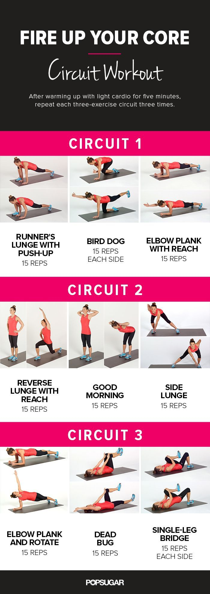Ab workouts and circuit workouts! So much awesome here!