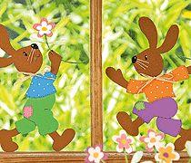 Fensterbilder basteln für Ostern - mit Vorlage