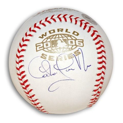 Autographed Carlos Guillen 2006 World Series Baseball