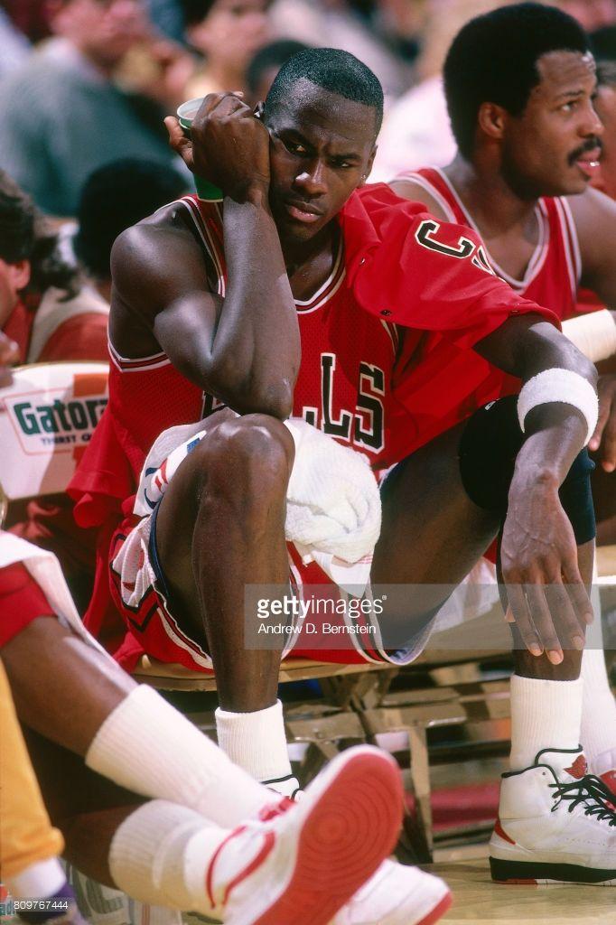 Fotografia de notícias : Michael Jordan of the Chicago Bulls is seen...