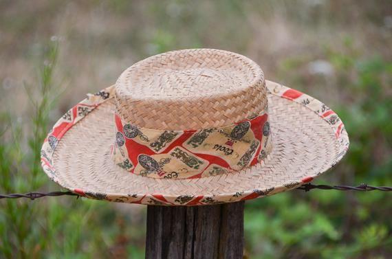 7e29af354 Vintage Coors Beer Woven Panama Hat Beer Theme Wide Brim Beach Bum ...