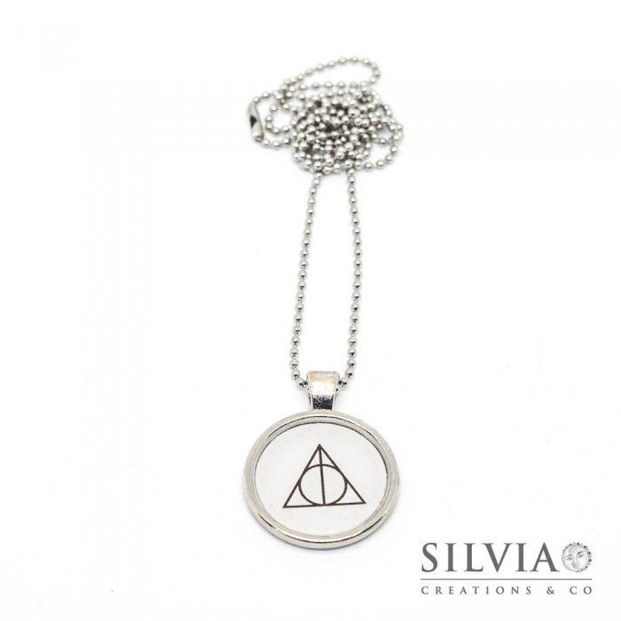 Collana lunga Harry Potter Doni della Morte da 25 mm