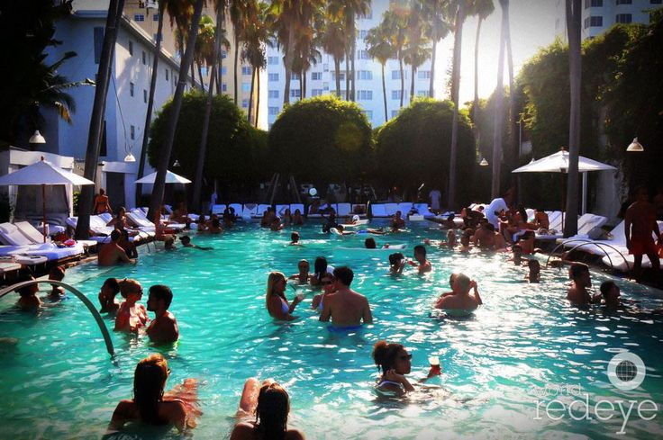 The Delano Beach Club, pool party , Miami Beach FL