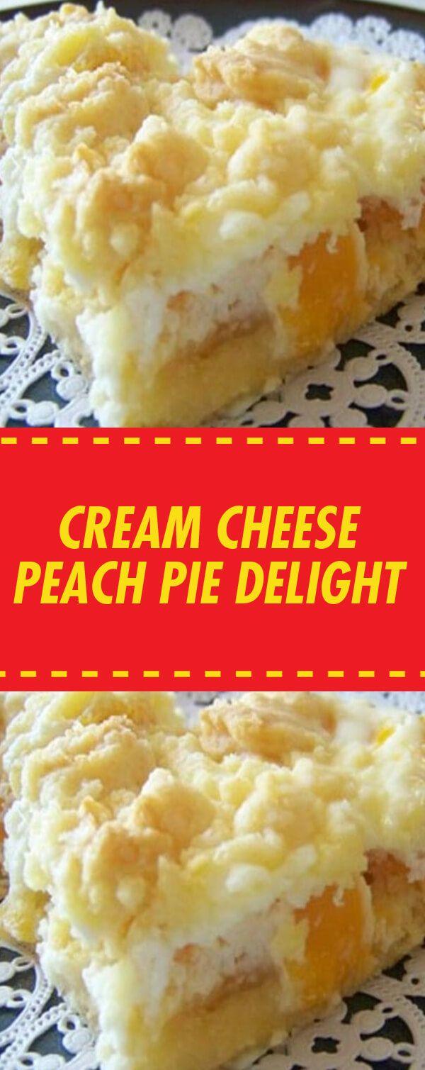 Cream Cheese Peach Pie Delight – MEXIKANISCHE LEBENSMITTELIDEEN   – Dessert