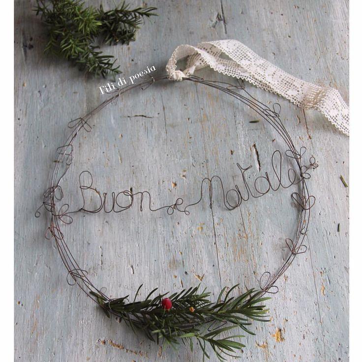 """""""Mi piace"""": 229, commenti: 18 - Daniela Corti•Wire & Textile (@filidipoesia) su Instagram: """"-10 Manca davvero poco!! 10 days to Christmas """""""