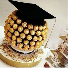 Nice ideas to decorate a table for a graduation ceremony. Make Manu