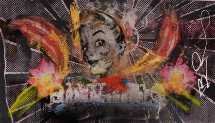 Kunstwerk: Jump, enjoy, celebrate and buy me van kunstenaar Bram Reijnders