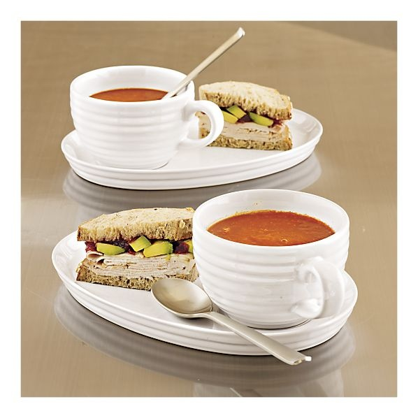 Crate \u0026 Barrel 2 piece Brunswick Soup and Sandwich Set...my favorite! & 13 best Food -- Tableware and Serving Pieces images on Pinterest ...