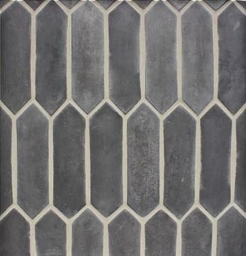 """Arabesque 3""""x11"""" Pickets Charcoal Gray"""