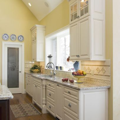 Yellow Walls Diffe Nice Color For Countertops Divine Kitchens Llc Traditional Kitchen Boston Er Paint