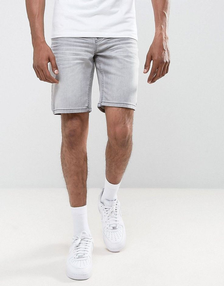 Get this Troy's denim shorts now! Click for more details. Worldwide shipping. Troy Slim Denim Rip Shorts - Grey: Shorts by Troy, Firm-stretch denim, Light-wash finish, Concealed fly, Five-pocket design, Slim fit - cut close to the body, Machine wash, 75% Cotton, 24% Polyester, 1% Elastane, Our model wears a W 32/81cm Regular and is 188cm/6'2 tall. (pantalón corto vaquero, damaged, ripped, mom, distress, flex jean, vaquero, jean, jeans, tejano, tejanos, shorts vaqueros, pantalones cortos…
