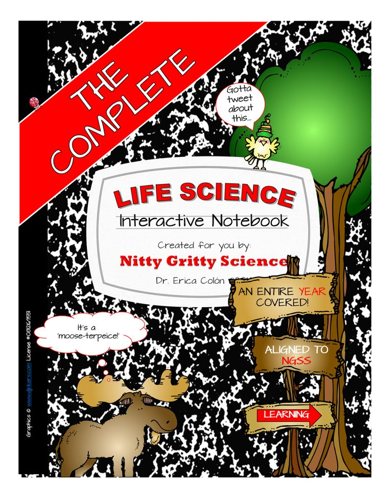 It's finally here!! The Complete Life Science Interactive Notebook that covers an ENTIRE YEAR and is aligned to the NEXT GENERATION SCIENCE STANDARDS!  You and your students are going to love it - it's just AWESOME!