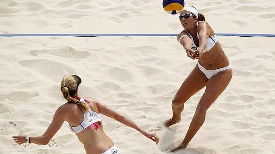 Misty May-Treanor and Keri Walsh.  Talk about health and fitness.  I love them.