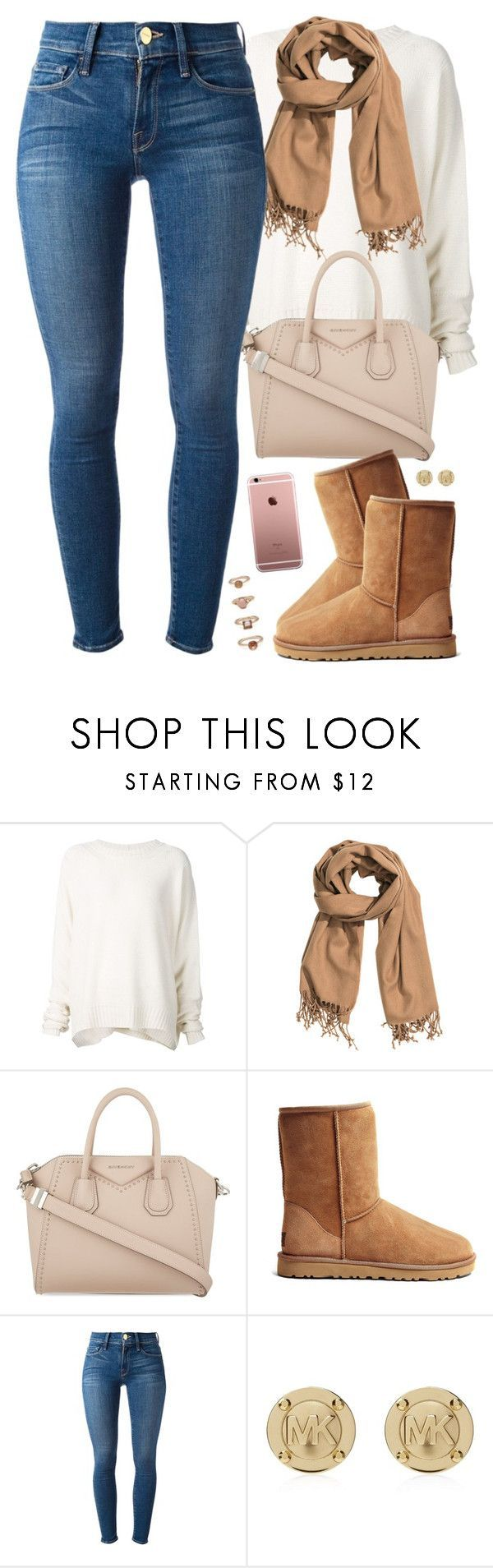 fall mood by daisym0nste on Polyvore featuring URBAN ZEN, Frame Denim, UGG Australia, Givenchy, Forever 21, Michael Kors and HM