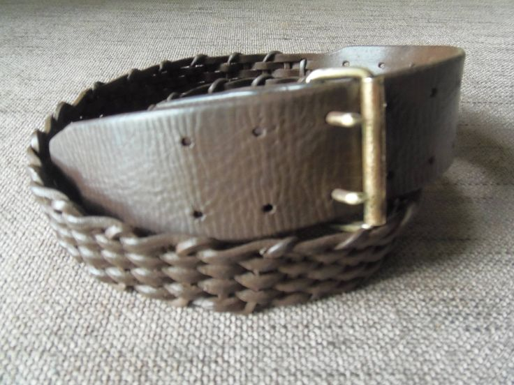 WWI Trench Art Braided French Army Belt de la boutique QueenBeeBrocante sur Etsy