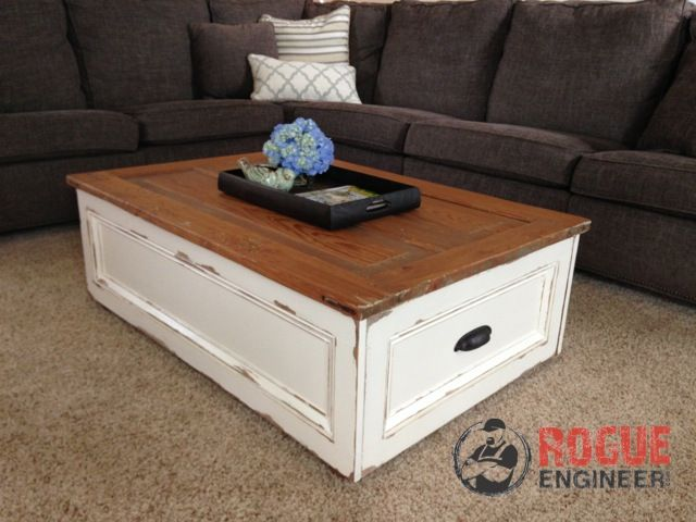 DIY Coffee Table with Storage | Rogue Engineer