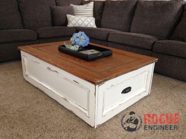 DIY Coffee Table with Storage | Rogue Engineer