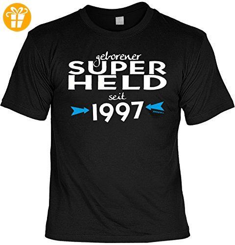 T-Shirt zum 20. Geburtstag Geschenk zum 20 Geburtstag 20 Jahre Geburtstagsgeschenk 20-jähriger SUPERHELD SEIT 1997 Gr: S (*Partner-Link)