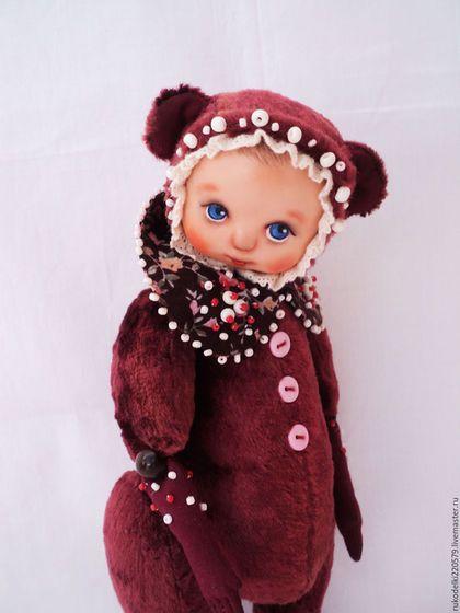 Teddy Doll / Мишки Тедди ручной работы. Ярмарка Мастеров - ручная работа. Купить Тедди -Долл! Вишенка!. Handmade. Бордовый, Плюшевый мишка