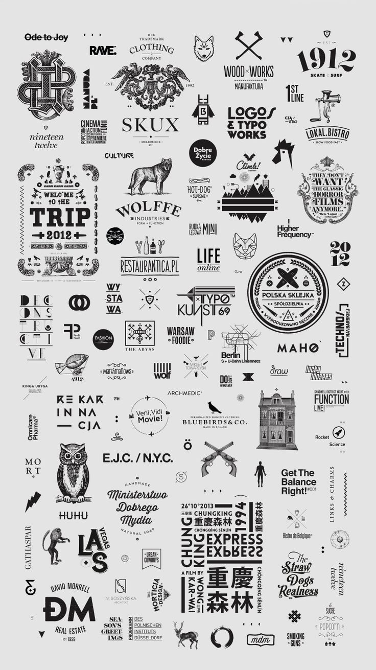 Logos & Typography / 2008-2014 on Behance