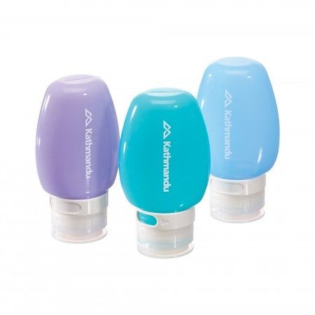 Resilient silicone travel bottles