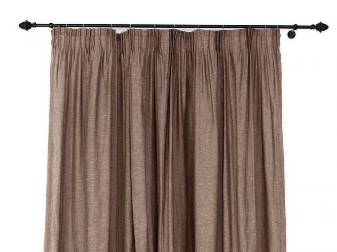 Curtains Ideas brown linen curtains : 1000+ ideas about Brown Pencil Pleat Curtains on Pinterest | Teal ...