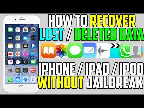 Recover Deleted Pictures,Videos & More from iPhone,iPad,iPod Touch - YouTube