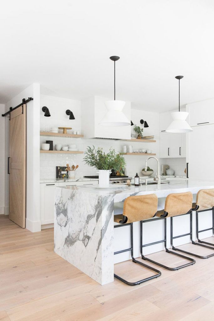 11 Beautiful Kitchen Island Ideas For Your Next Renovation The Eat Down In 2020 Marble Kitchen Island Interior Design Kitchen Kitchen Marble