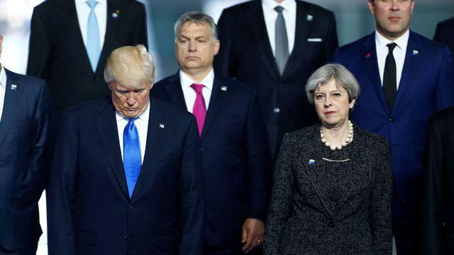 Trump na summitu NATO v Bruselu.